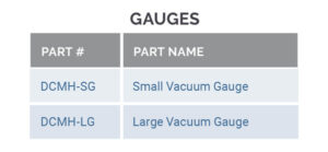 gauges part number and charts