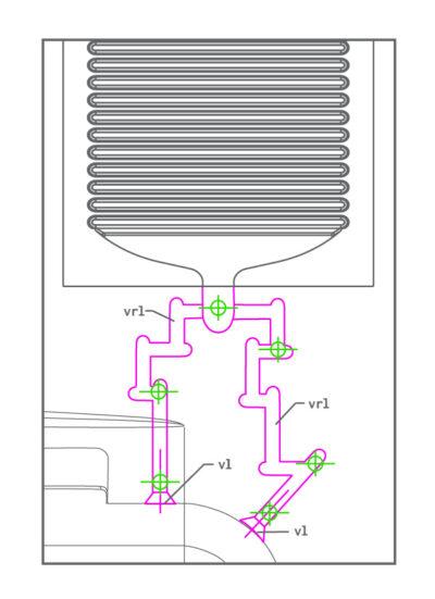 diagram of vent runners