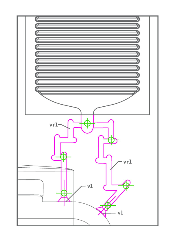 diagram of vent runners